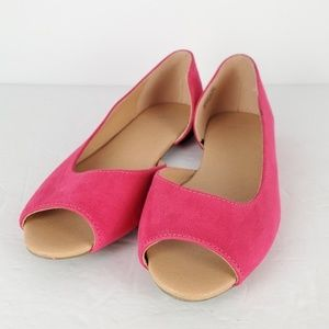 HM Hot Pink Flats Exposed Sides US 6 EUR 37
